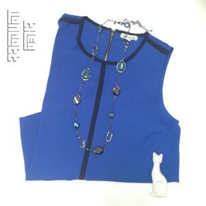 FAITH & JOY - Modern Sleeveless Zipper Back Top!<3